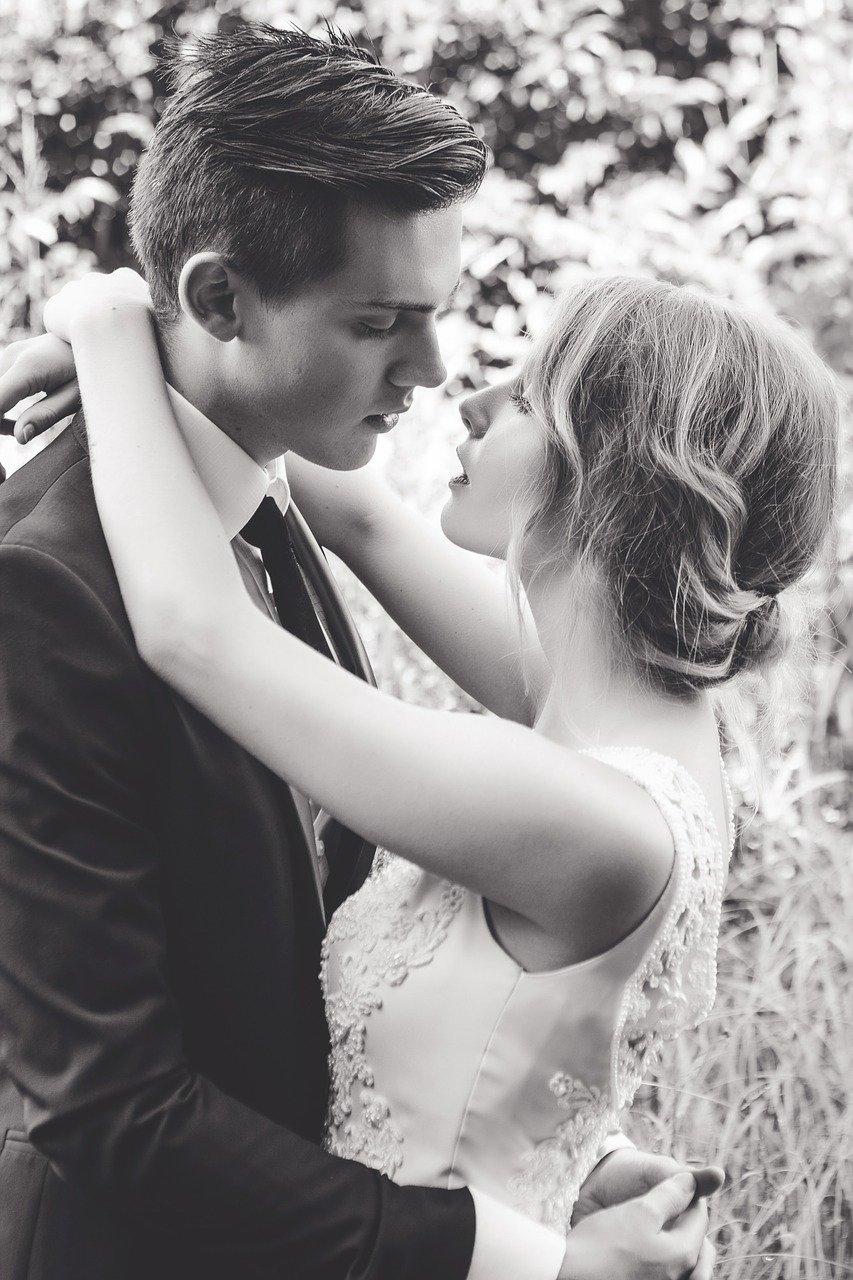adult, bride, dress